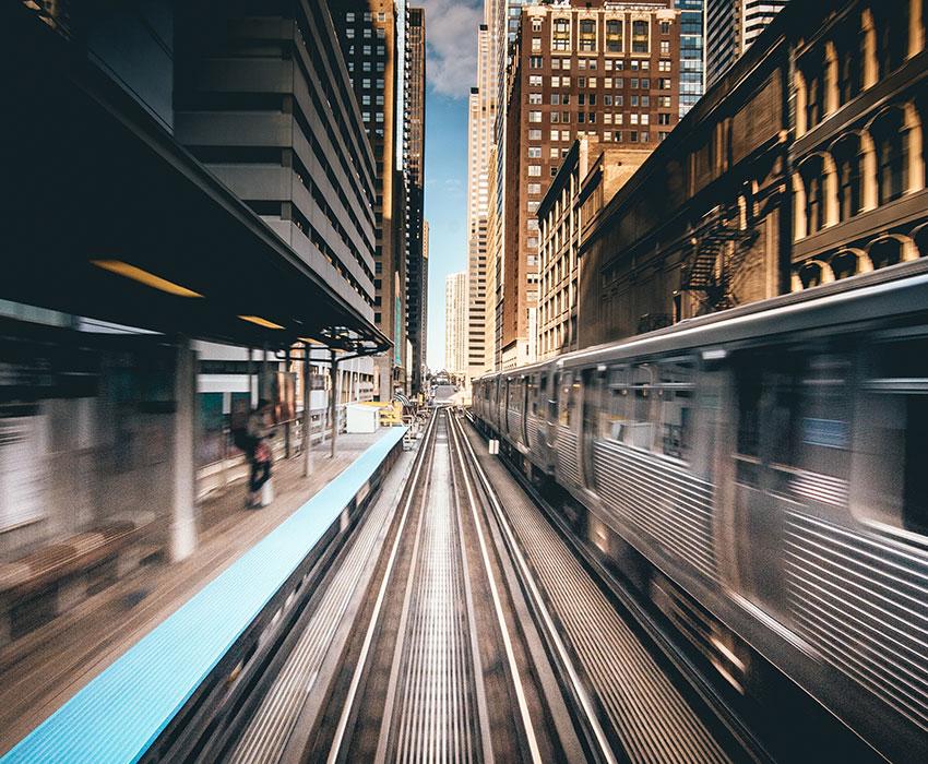 Schnellzug Haltestelle